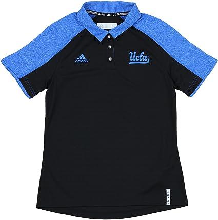 adidas UCLA Bruins Climalite Entrenadores Polo de la Mujer, Negro ...