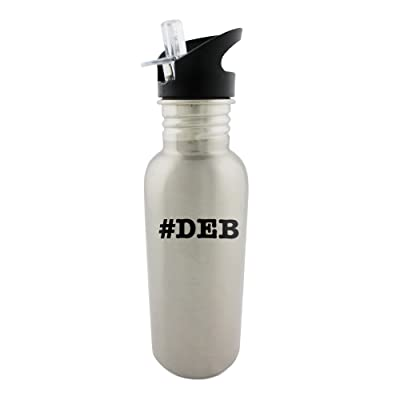 nicknames DEB nickname Hashtag Stainless steel 600ml bottle with straw top