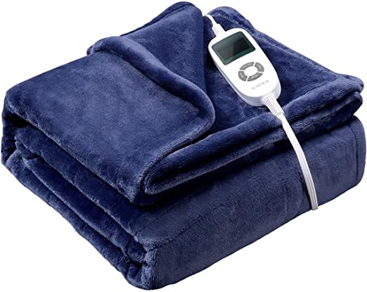Vipex Heated Blanket - Flannel Electric Heated Blanket Throw