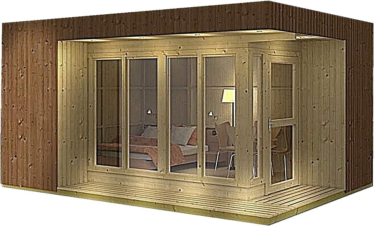 Allwood Arlanda - Kit de montaje de casa de jardín: Amazon.es ...
