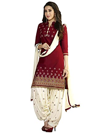 9aacd9fc1 Salwar Suit(Dresses for women party wear Designer Dress Material Today  offers buy online in Low Price Sale Free Size Salwar Suit )  Amazon.in   Clothing   ...