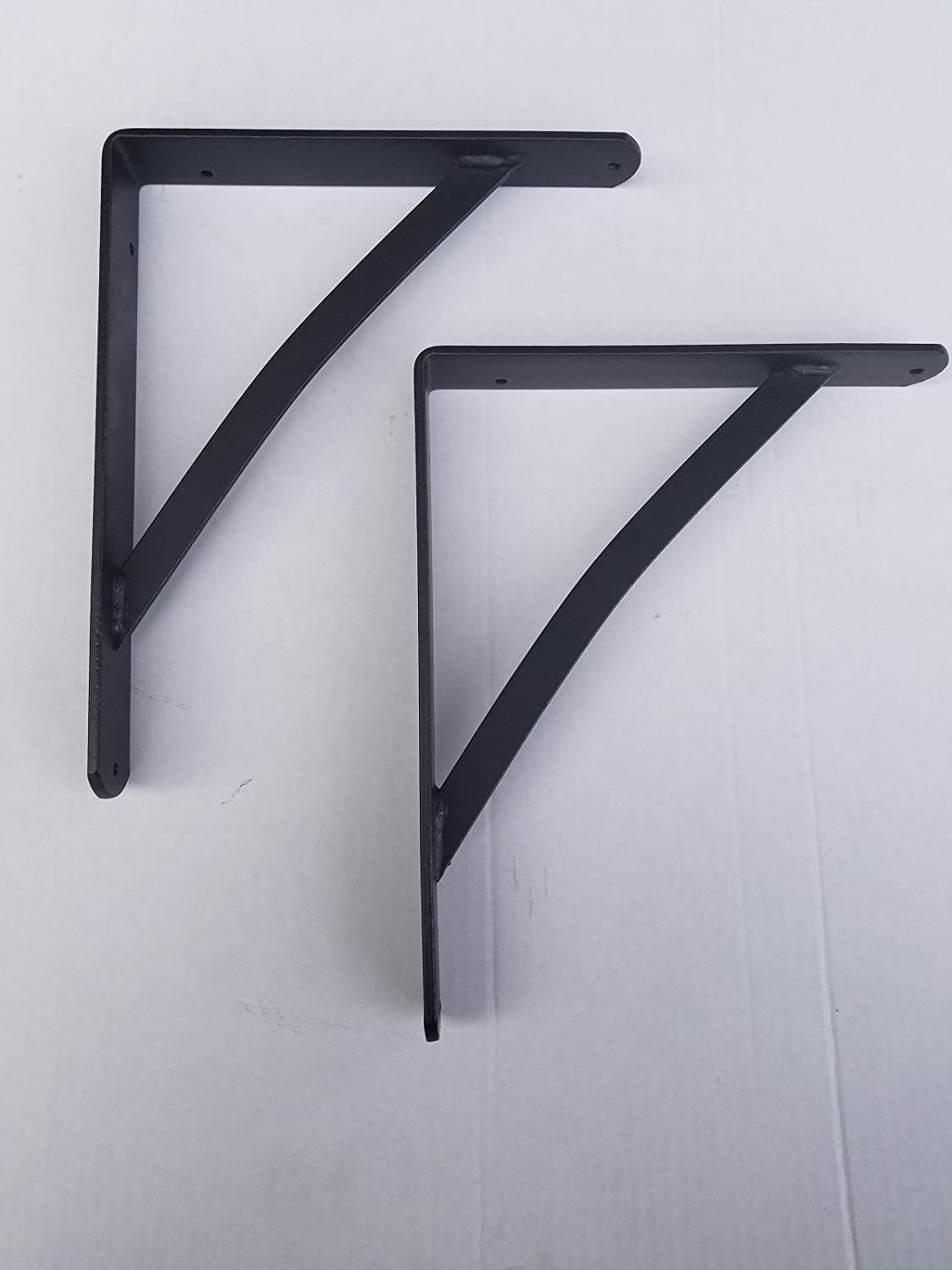 Wrought Iron Large Shelf Brackets Set of Two - Hand Made by Amish of Lancaster County PA