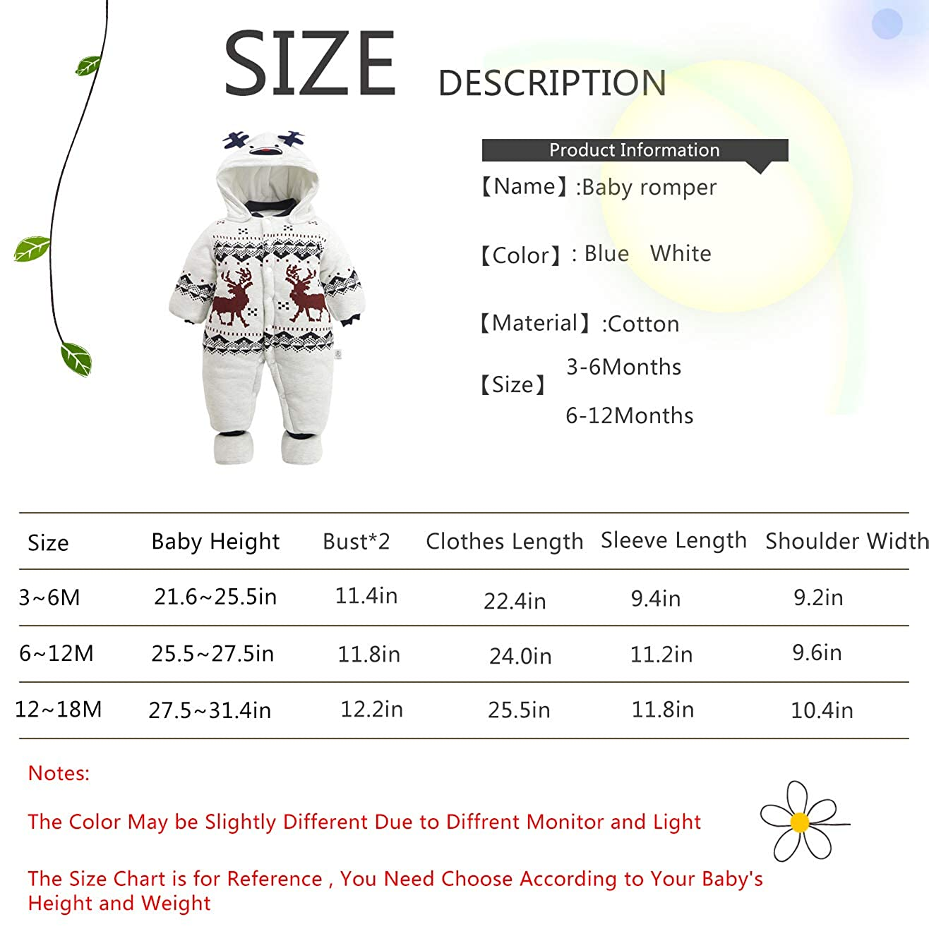 Baby 3PC Thicken Gentleman One Piece Long Sleeve Gentleman Formal Outfit with Hat and Foot W520