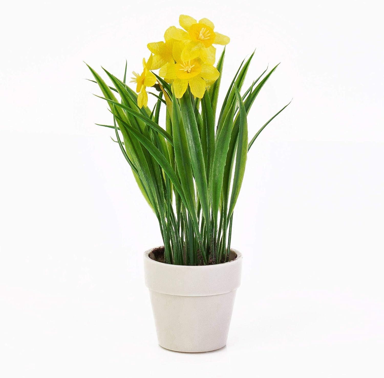Fiori Gialli Simili Al Narciso.Artplants De Narciso Artificiale In Vaso Decorativo 6 Fiori