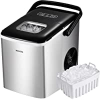 NOVETE Portable Ice Maker for Countertops, Ice Ready in 6 Minutes, 28.7 lb Ice in 24 Hours, No Water Line or Drain Line…