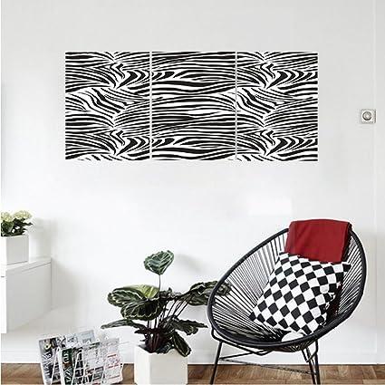 Liguo88 Custom Canvas Zebra Print Decor Wall Hanging Striped Zebra Animal  Print Nature Wildlife Inspired Fashion