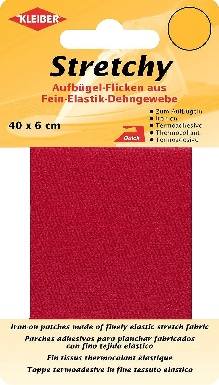 100/% Polyester Co.GmbH Stretchy Aufb/ügel-Flicken 40 x 6 x 0,05 cm beige Kleiber