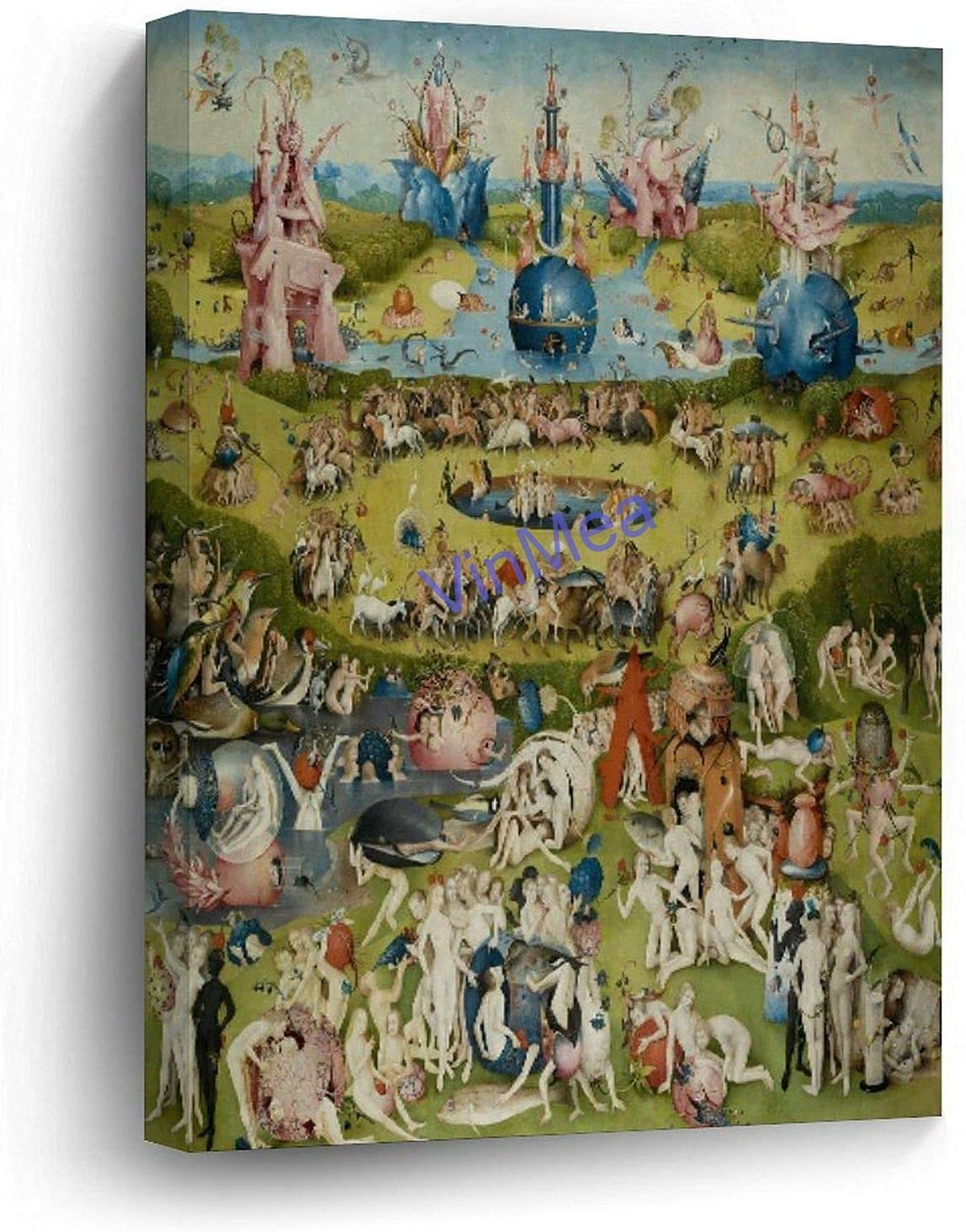 VinMea Funny Pictures Wrapped Canvas - Garden of Earthly Delights Wall Art Decoration Stretched and Framed Ready to Hang 12