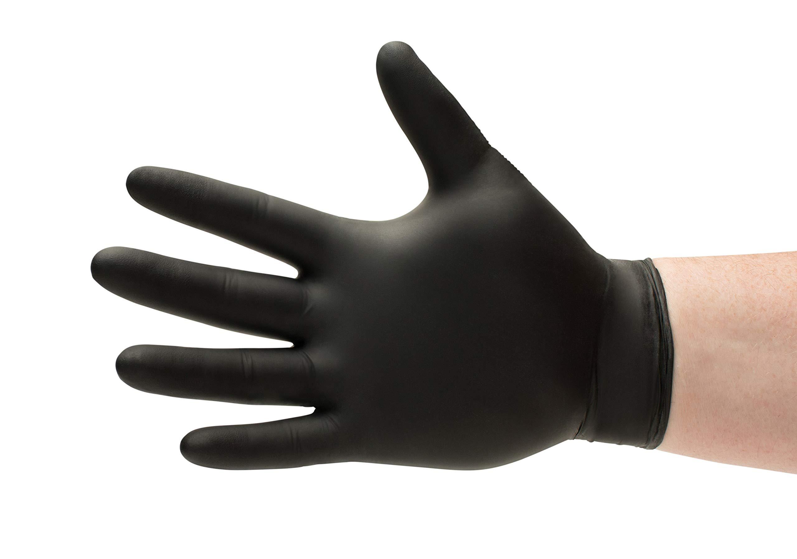 Black Nitrile Medical Exam Grade Gloves Powder Free 5 Mil X-Large 1000 Pieces (10 Boxes)