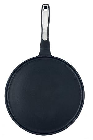 ROSSETTO Sartenes para Crepes, 30 cm, Aluminio Fundido con Antiadherente (Negro): Amazon.es: Hogar