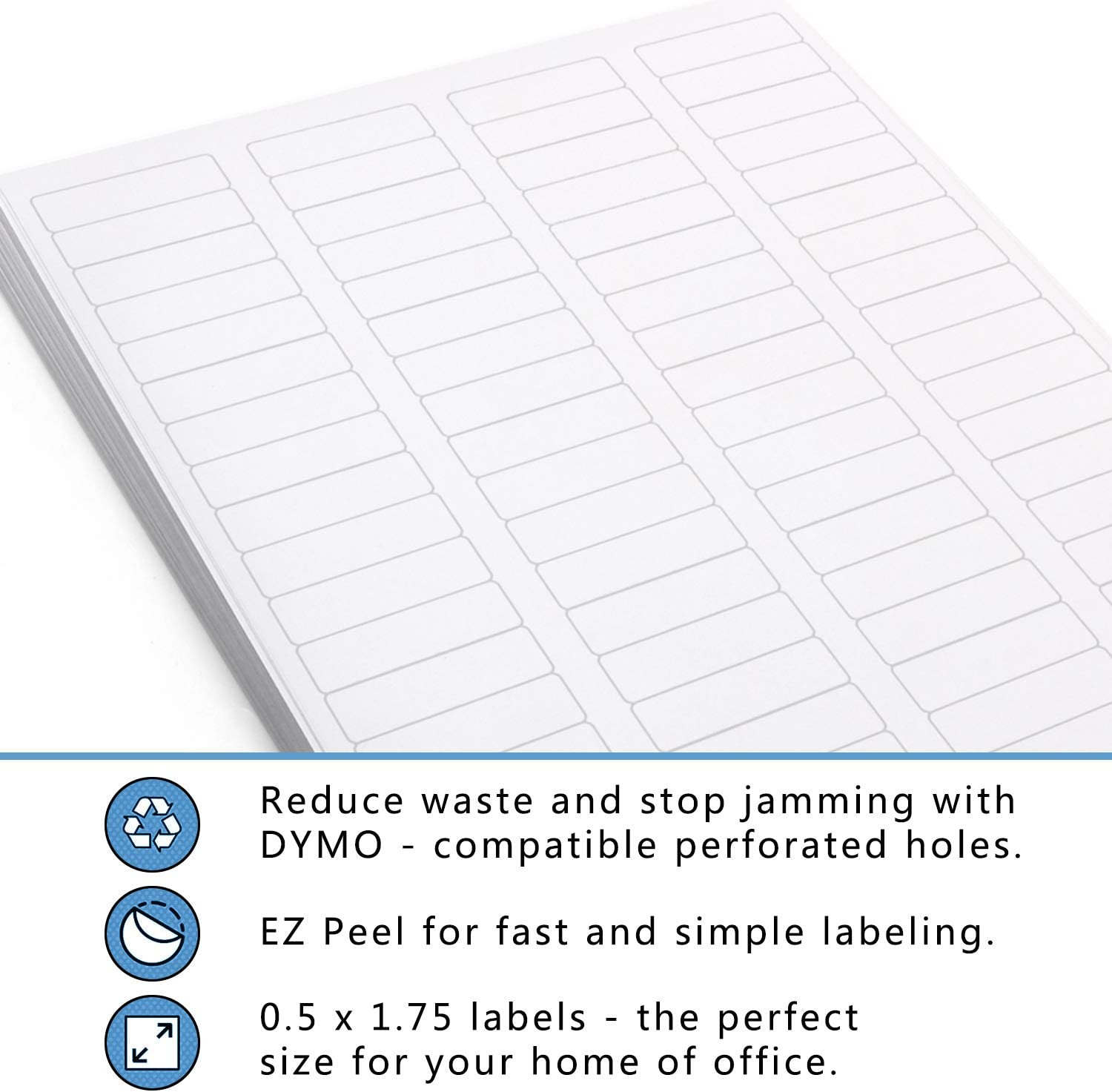 0.5x 1.75Packing Sticker Labels 50 Sheets,Total 4000 Labels 80 up Self Adhesive Shipping Address Labels for Laser//Ink Jet Printer