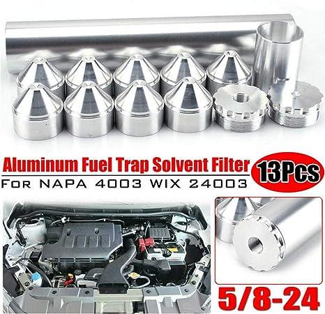 Kairuun 11PCS Autom/óvil Aluminio Juego de Filtro de Combustible,1//2-28 Filtro Gasolina Filtro Gasoil Sucio para Auto NAPA 4003 WIX 24003
