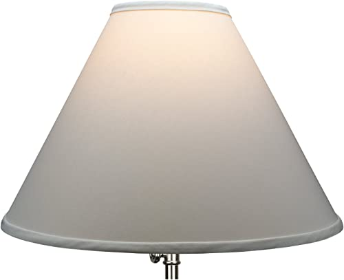 FenchelShades.com Lampshade 6 Top Diameter x 18 Bottom Diameter x 13 Slant Height with Washer Spider Attachment for Lamps with a Harp Ivory