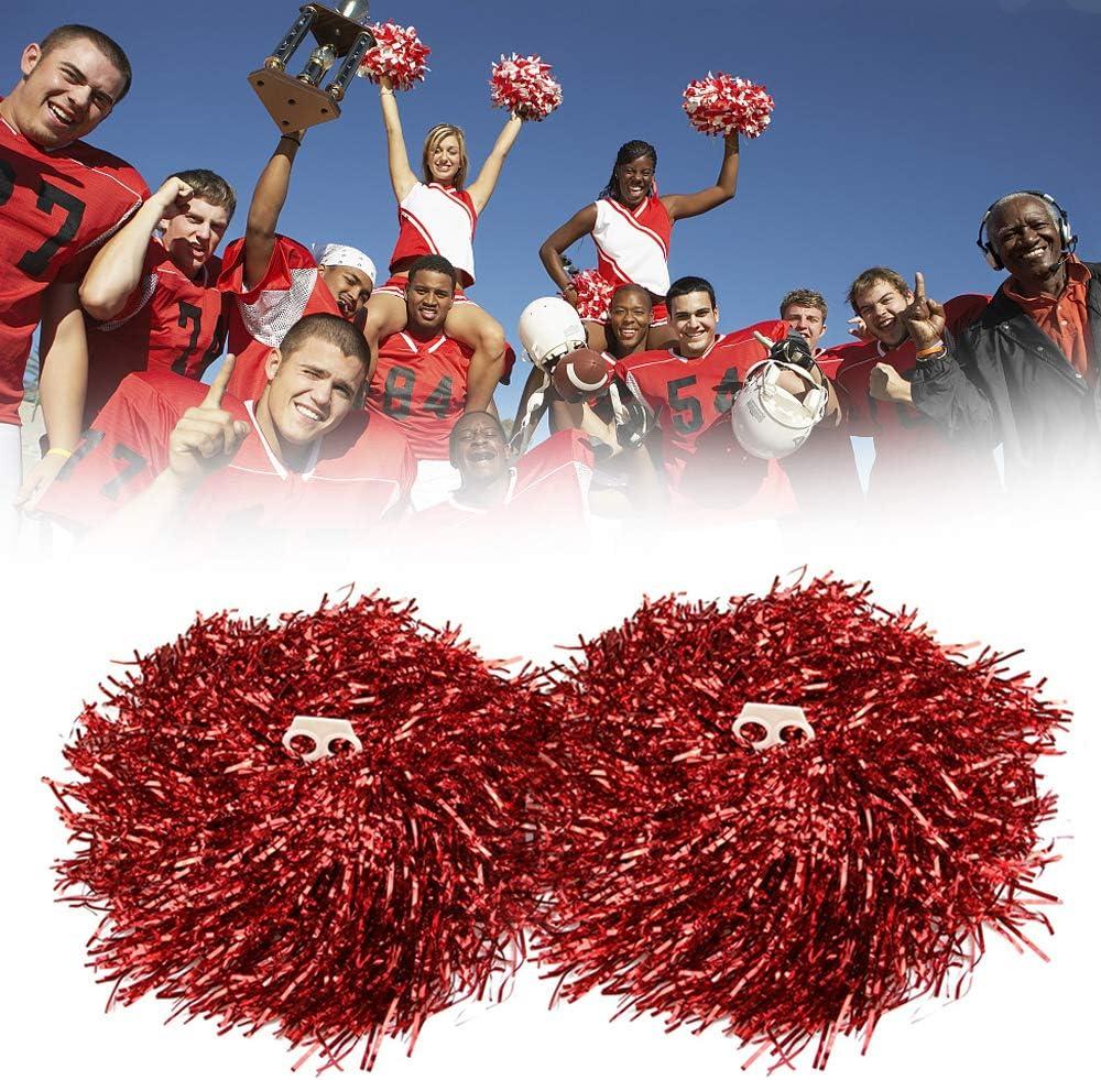 Hatisan-Pro 12 Pcs Cheerleading Pom Poms Cheerleading Pompons Pom-Pom Girls Pompoms avec Poign/ée pour Ball Dance D/éguisements Nuit F/ête des Sports