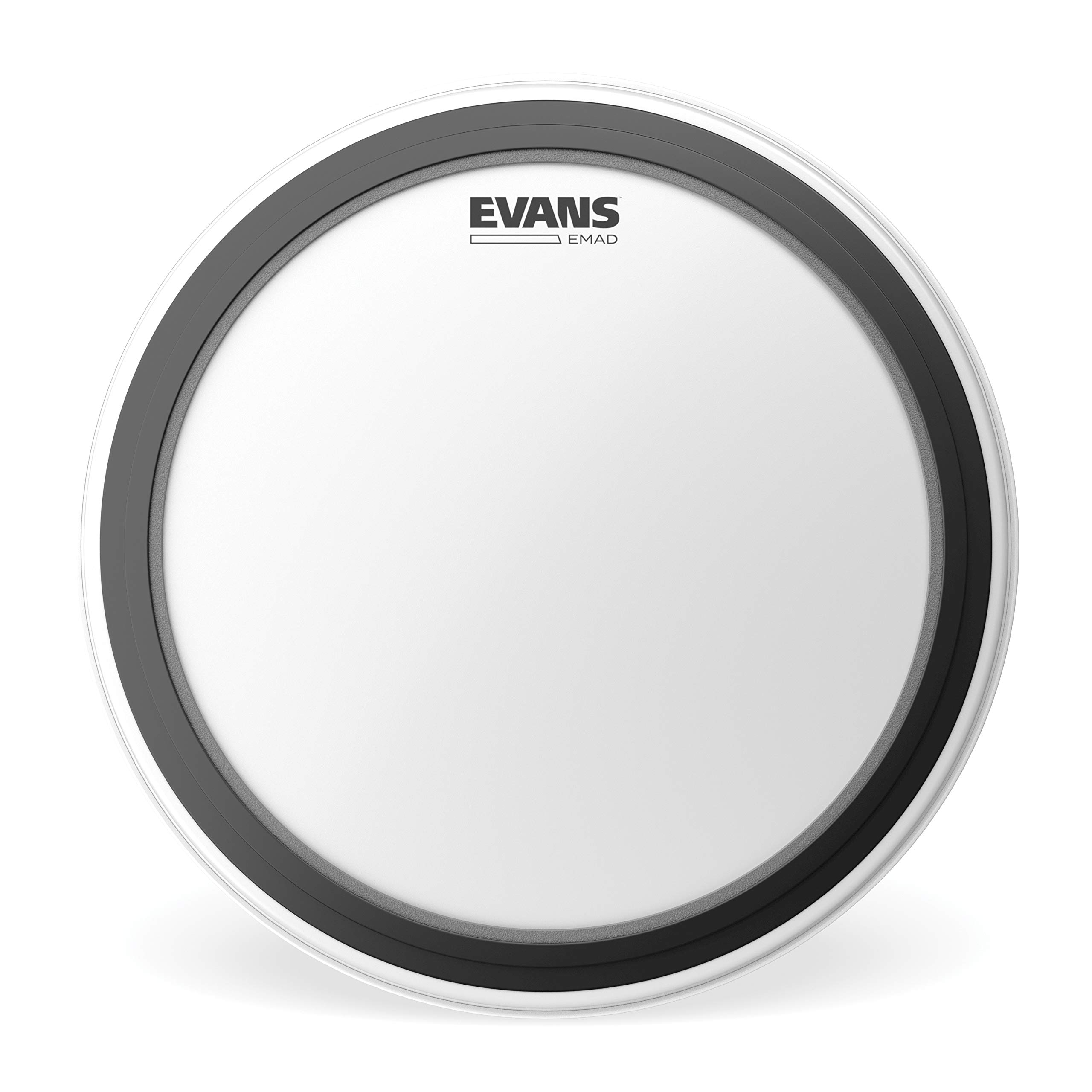 Evans EMAD Coated White Bass Drum Head, 22 Inch by Evans