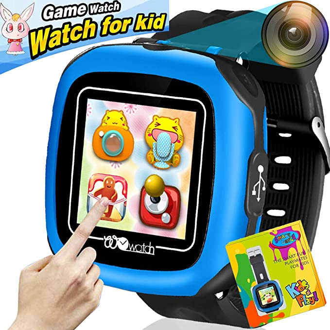 Reloj Inteligente Pantalla táctil Niños Game Smartwatches Función de cámara Pedómetro Calculadora Función de Alarma Función de cronómetro Banda de ...