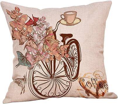 Fashion Plaid Taie d/'oreiller en Coton Lin Housse de Coussin Carré Canapé Home Decor