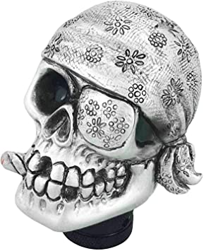 Silver Abfer Car Shift Knob Personal Gear Shifting Lever Shifter Stick Replacement Skull Style Fit Universal Automatic Manual Transport Vehicles