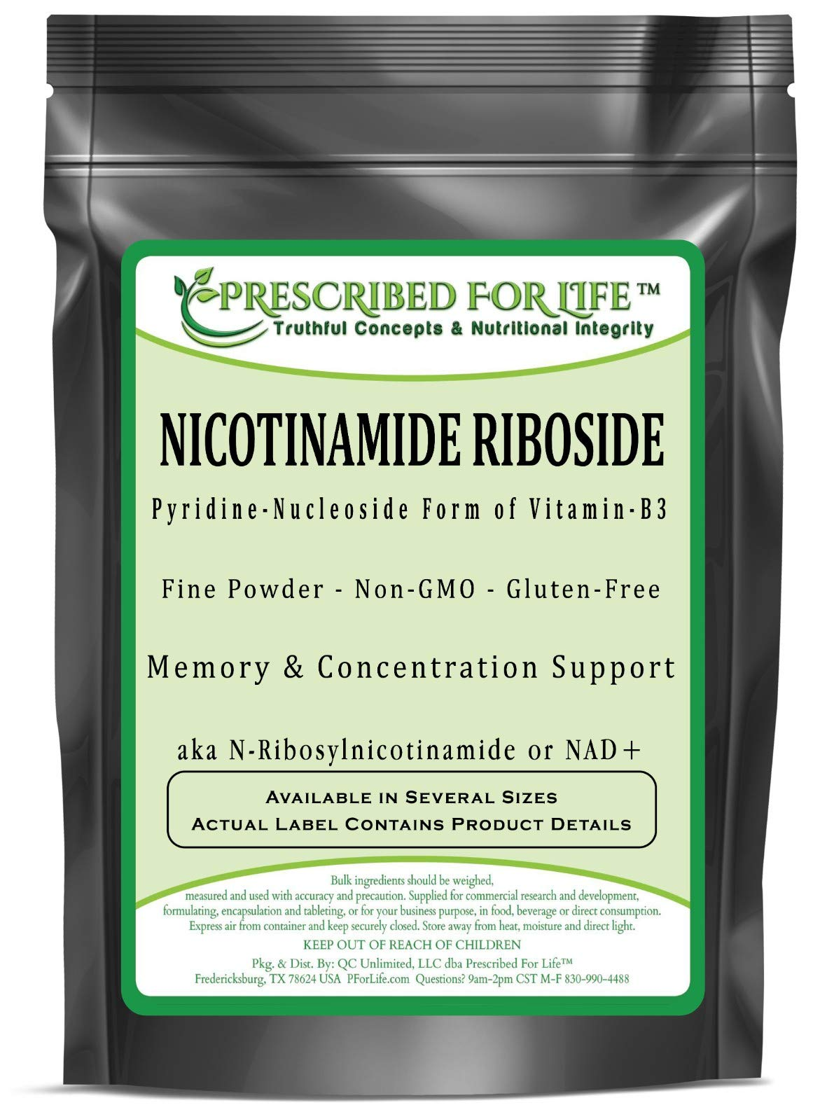Nicotinamide Riboside - Pyridine-Nucleoside Form of Vitamin B3 Powder, 1 oz
