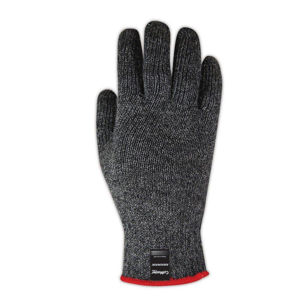 Size 9 MAGID AXB200 CutMaster Aramax Medium Weight Blended Seamless Machine Knit Glove Work Black 12 Pair