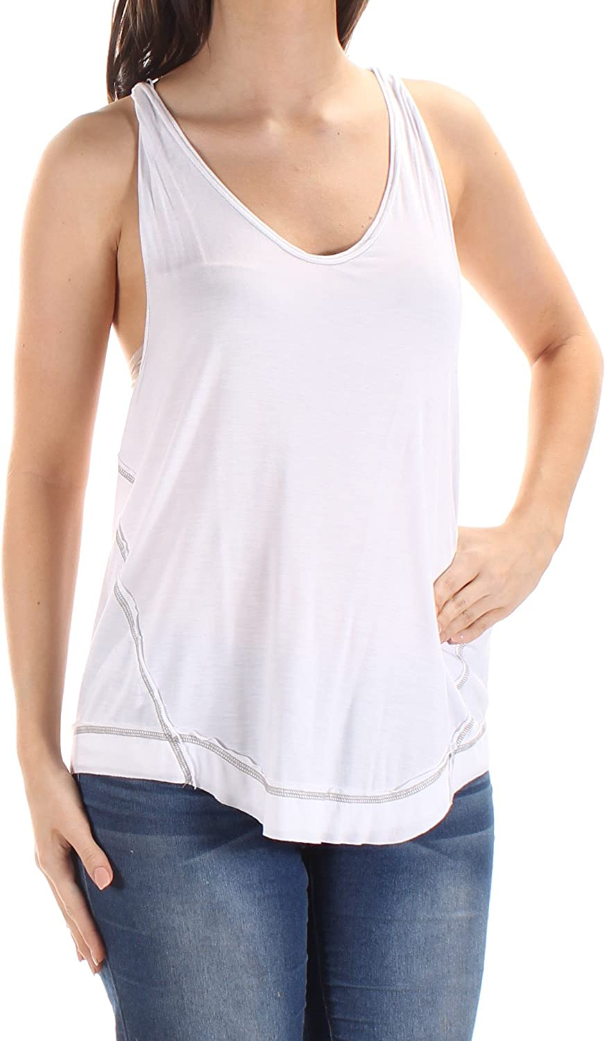 We The Free Womens Nectarine Sleeveless Rayon Tank Top White Small At Amazon Women S Clothing Store