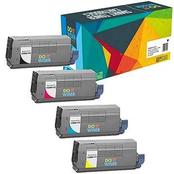 Doitwiser ® Set de 4 Toners compatibles para impresora láser Oki ...