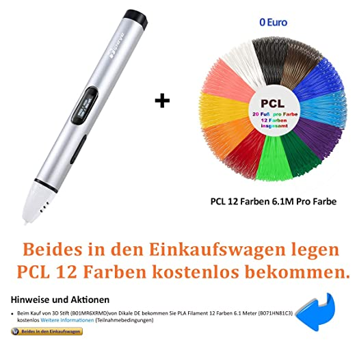 3D Stift Set mit OLED Display, niedrige Temperatur 3D Pen, sicher ...