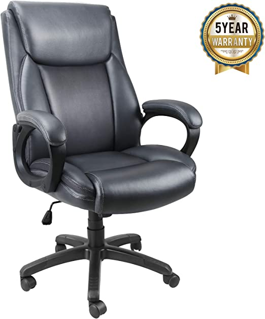 Office Chair adjustable Office Computer Swivel Stool Synthetic Leather MY SIT