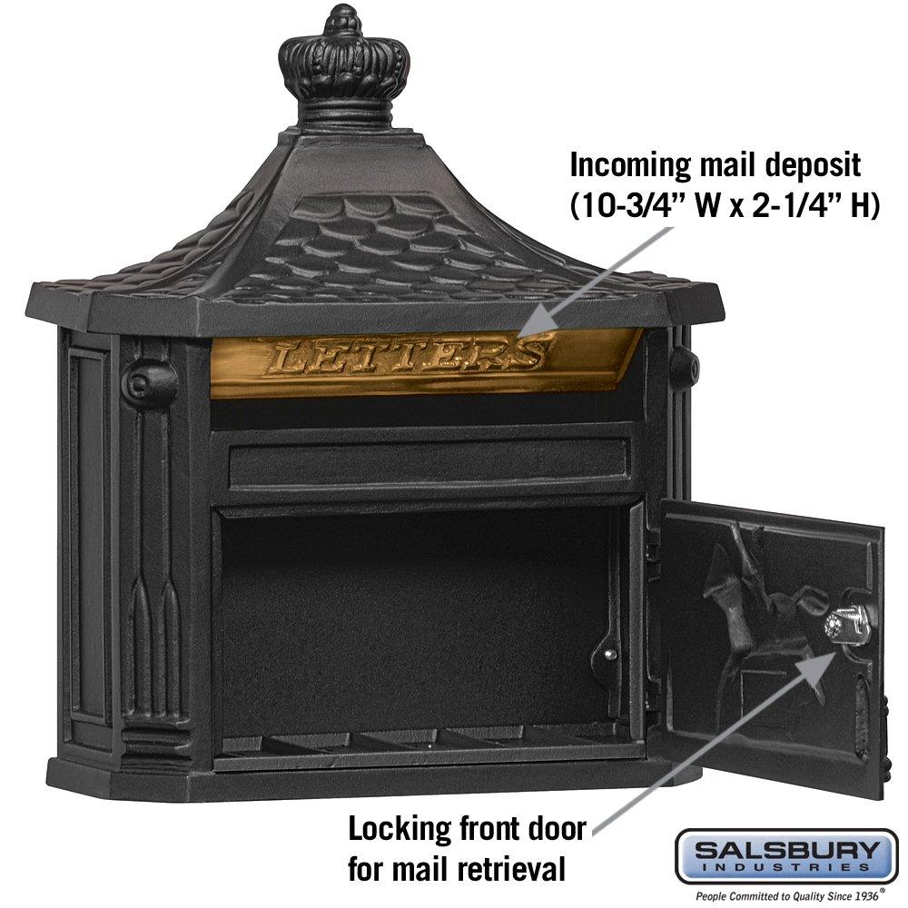 Salsbury Industries 4460WHT Victorian Surface Mounted Mailbox White