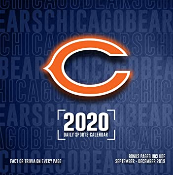 Chicago Bears 2020 Schedule.Amazon Com Chicago Bears 2020 Calendar Office Products