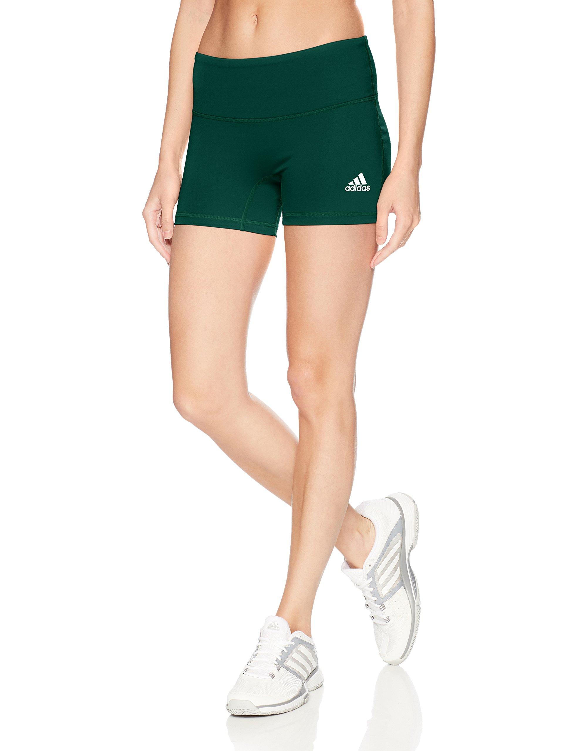 adidas Women's 4 Inch Short Tight, Dark Green, Large by adidas