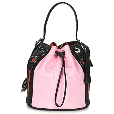 4bba845d29 Kenzo Kombo pink, red and black bucket bag: Amazon.co.uk: Clothing