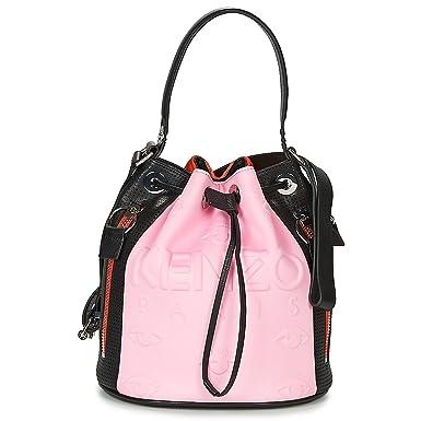 c57c7631b90 Kenzo Kombo pink, red and black bucket bag: Amazon.co.uk: Clothing