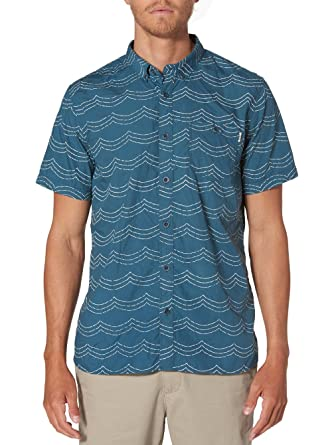 Amazon.com: Reef Mens Future Button-Up Short-Sleeve Shirt: Clothing