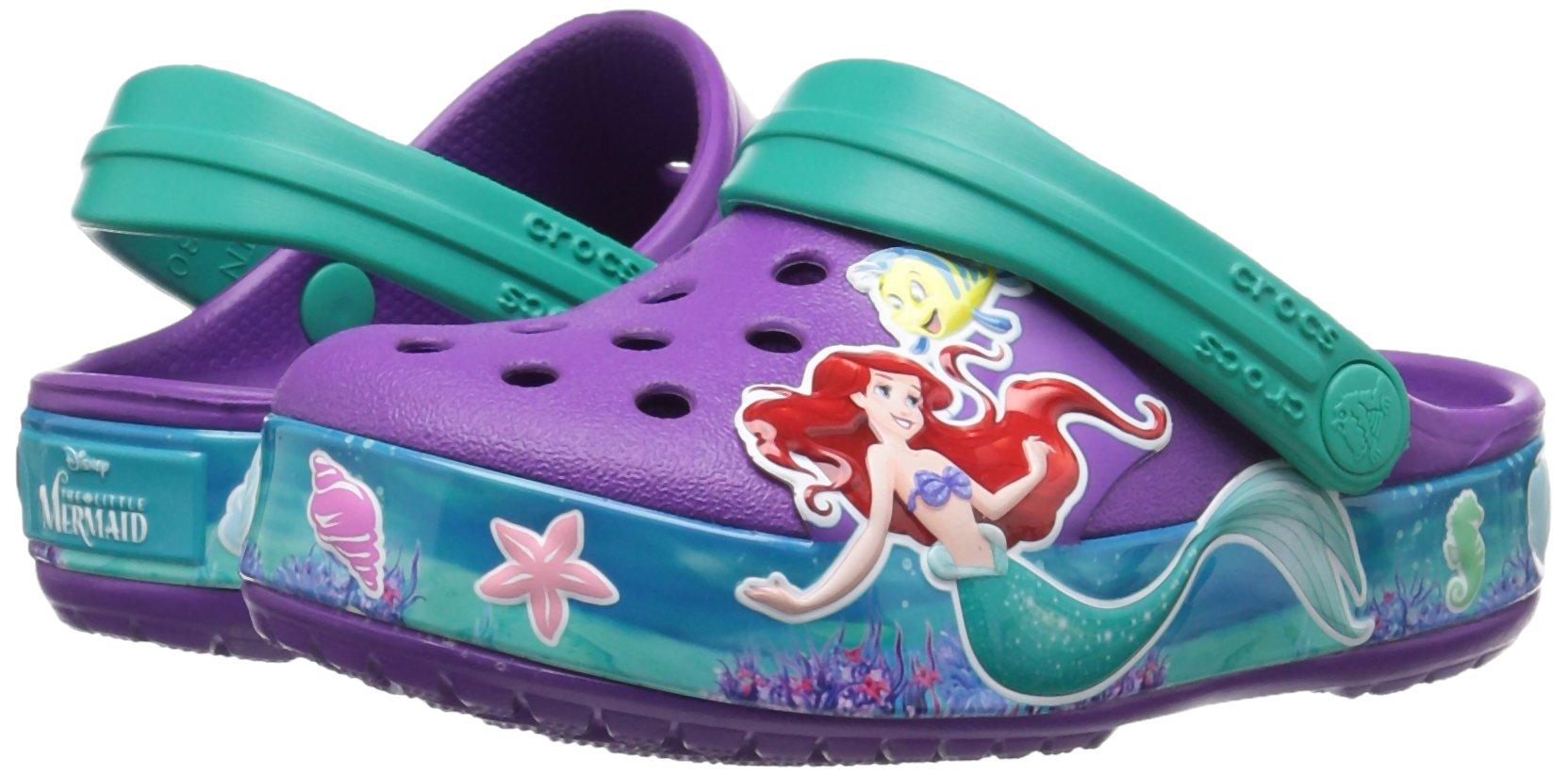 Crocs Girls' CB Princess Ariel K Clog, Amethyst, 13 M US Little Kid by Crocs (Image #6)