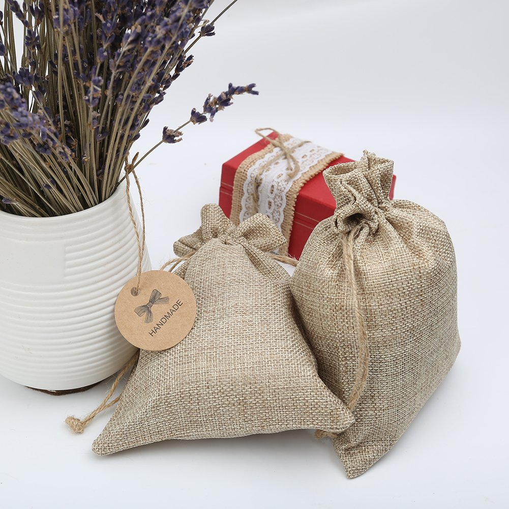 Presents Jewelry Candy Pouch for Wedding Favors Shintop 20pcs Burlap Gift Bags with Drawstring Christmas and Festival Party 5.5 * 7.1inch