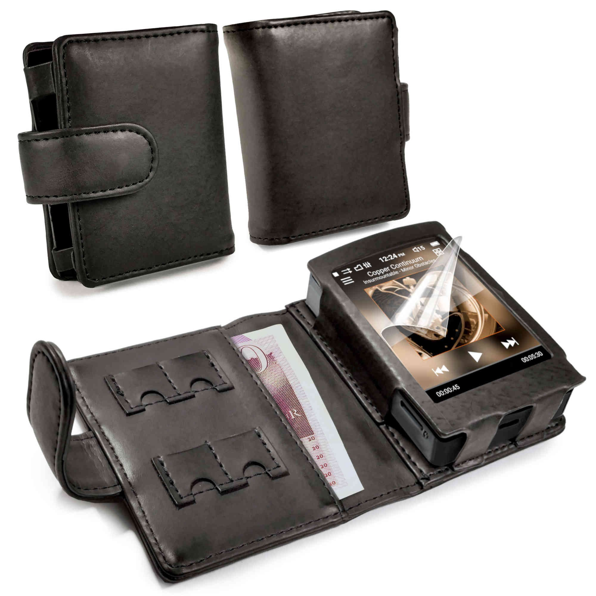 Tuff-luv Genuine Western Leather Case Cover for Cowon Plenue D - MP3 - Black by Tuff-luv (Image #1)