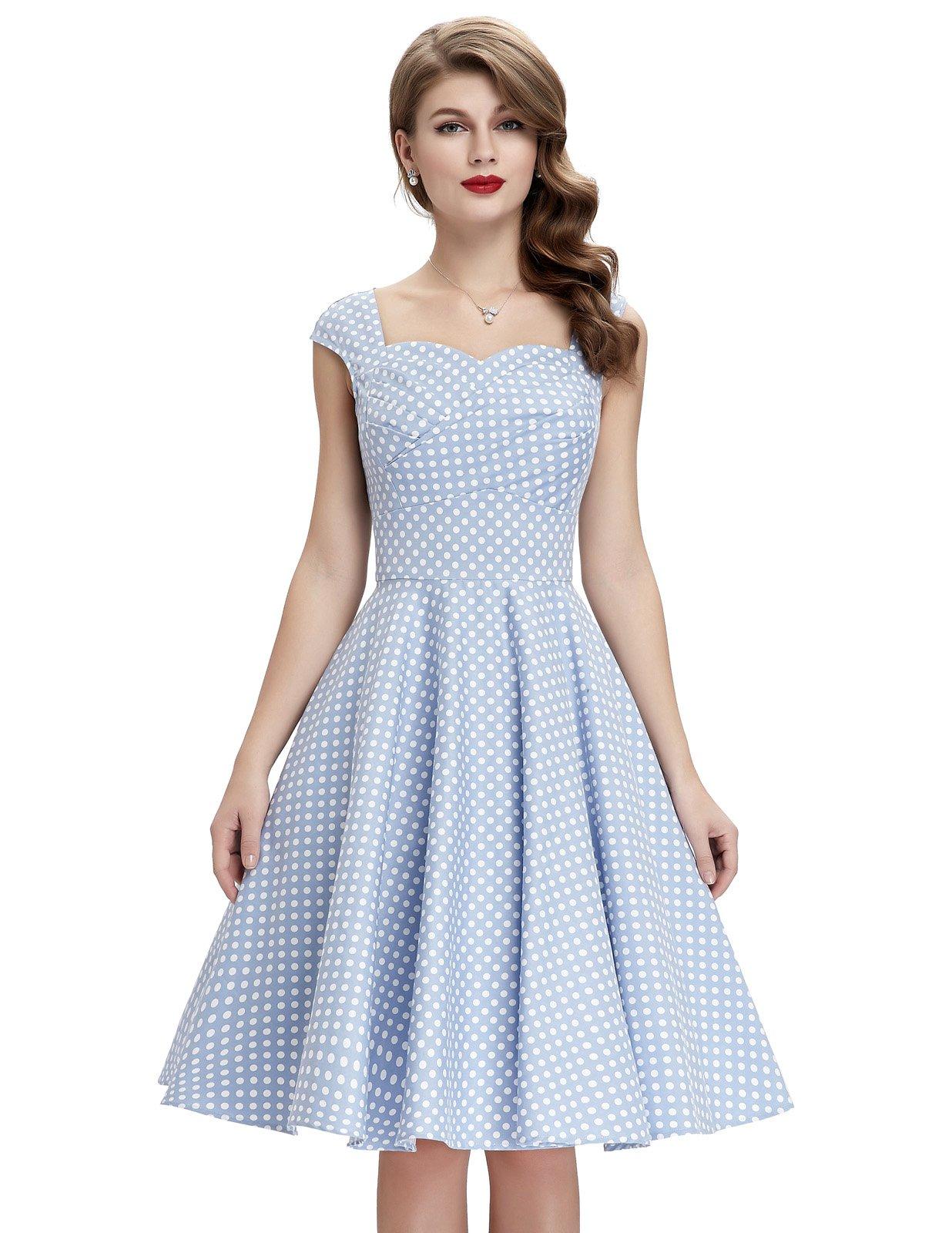 GRACE KARIN 1940's Dresses for Women Vintage Style Sleeveless Size XL BP105-4
