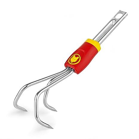 M Mini Coltivatore 15x13x29.6 cm WOLF Garten 71AIA001650 LA Rosso/Argento