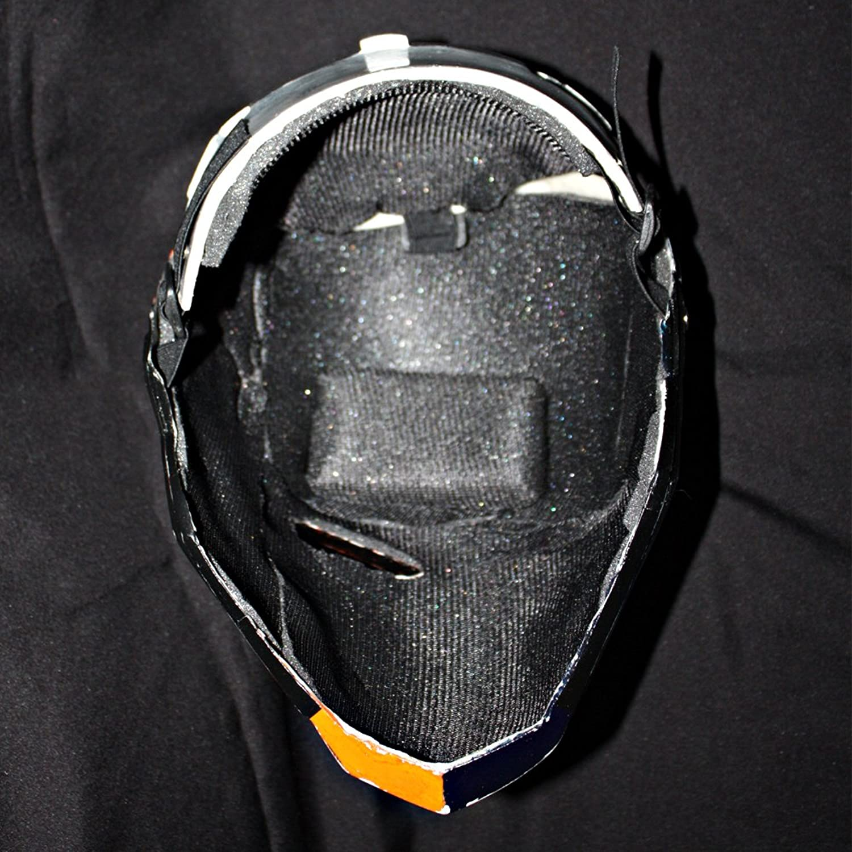 Amazon.com: 1:1 Deathstroke Arkham Helmet Mask Halloween Costume ...