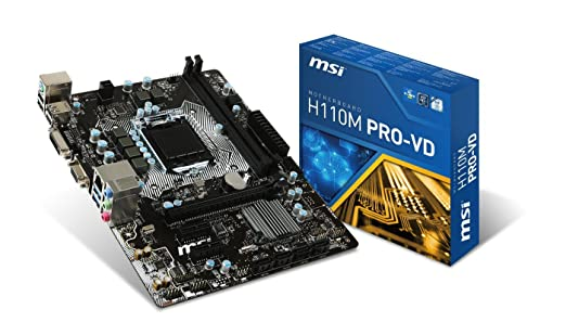 48 opinioni per MSI H110M Pro-VD Scheda Madre M.ATX,