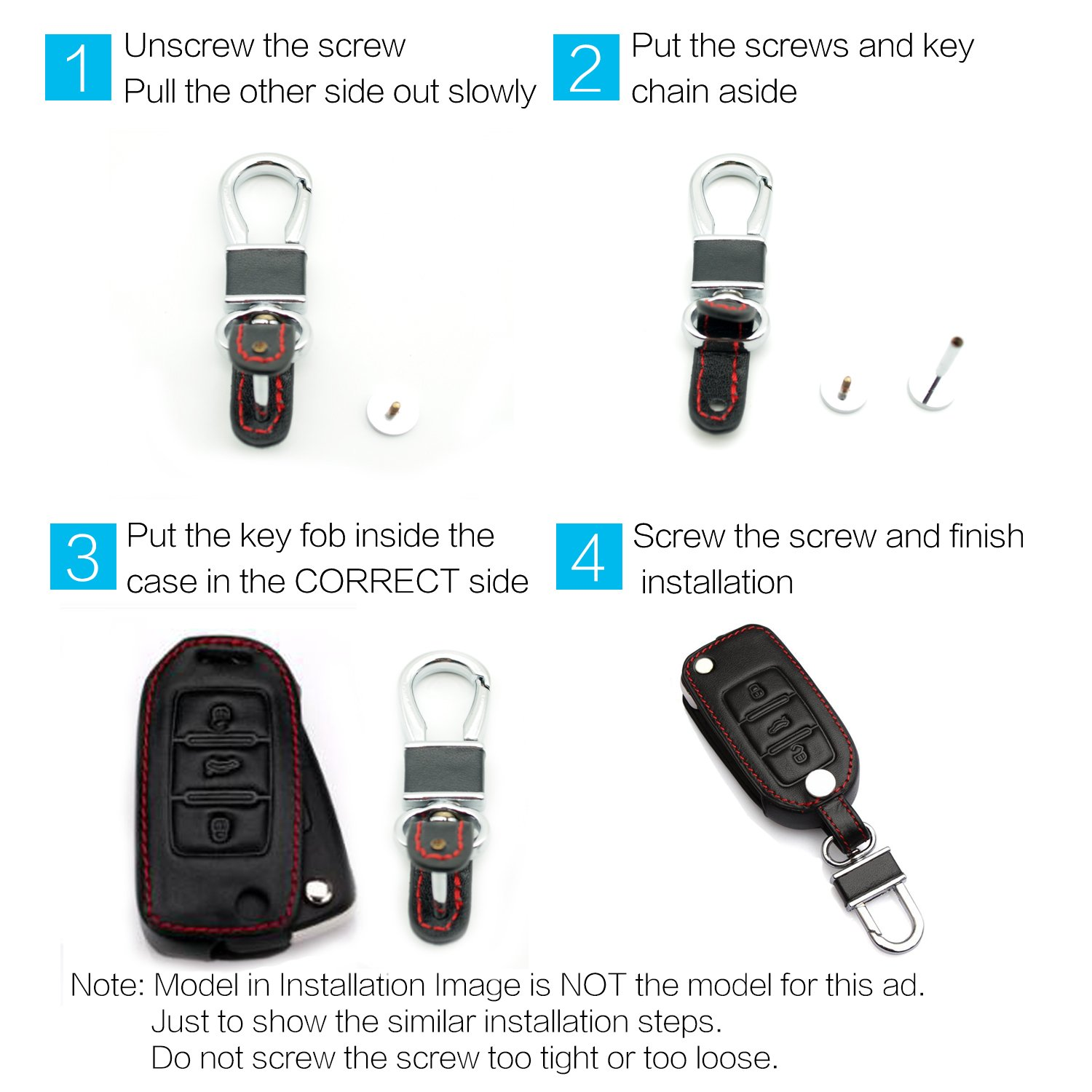 Bonus MECHCOS Compatible with fit for Mercedes Benz C CLK CL E GL GLK ML R S SL SLK Class Leather Case Protector Key Fob Cover Smart Car Remote Holder Silicone Case /& Key Ring-Red