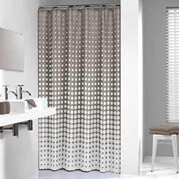 extra long shower curtain grey. Extra Long Shower Curtain 72 x 78 Inch Sealskin Speckles Taupe Fabric Amazon com