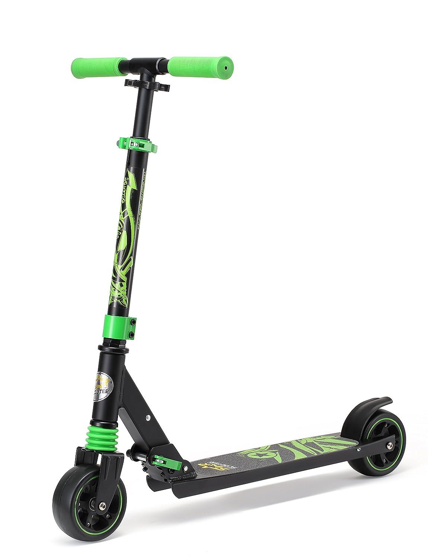 Star-Scooter® Patinete con Ruedas extragruesas y Plegable para niños Desde Aprox. 4-5 años Monster Wheel Edition