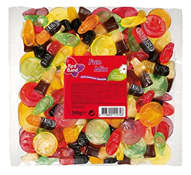 Red Band Fun Mix, Gominolas de Fruta, Bolsa de 500 g: Amazon ...