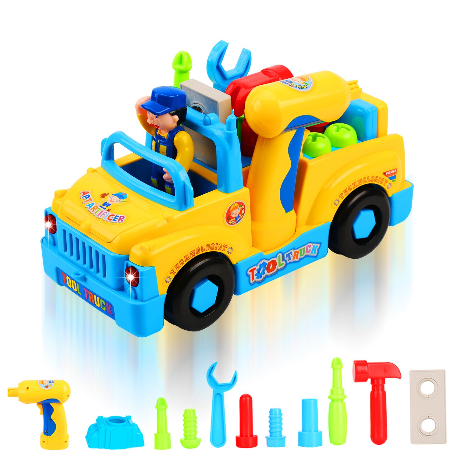50%OFF QuadPro Truck Take Apart Toys for Boys Girl With Electric