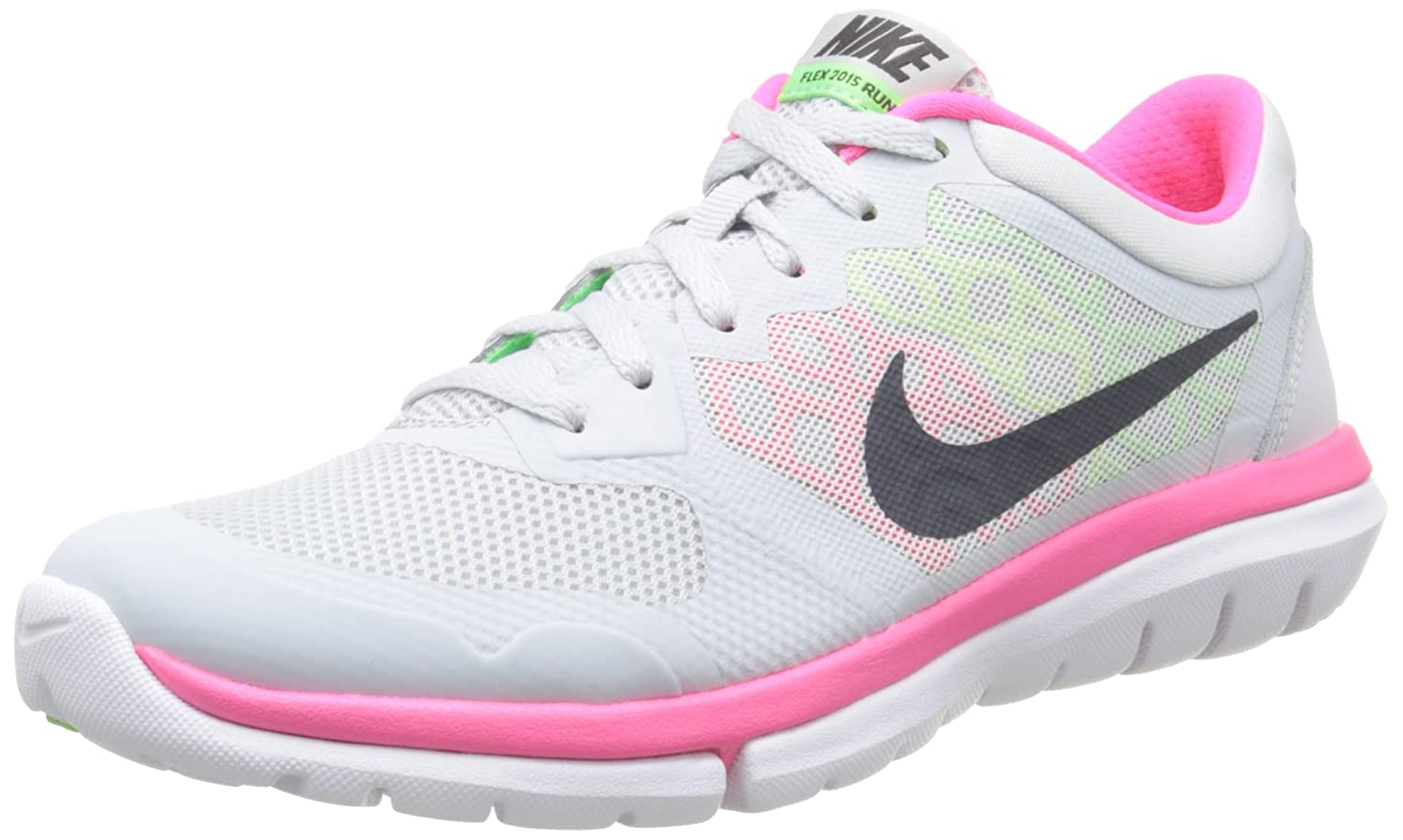 81dcfa888962f8 Nike Women s Flex Run 2015 Running Shoes Pink Size  5.5  Amazon.co ...