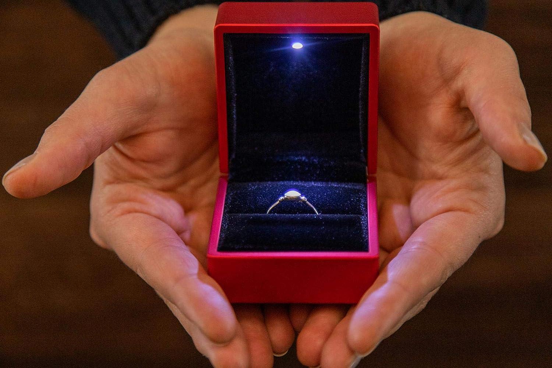 ZADAWERK/® Bo/îte /à Anneaux avec /éclairage LED Rouge