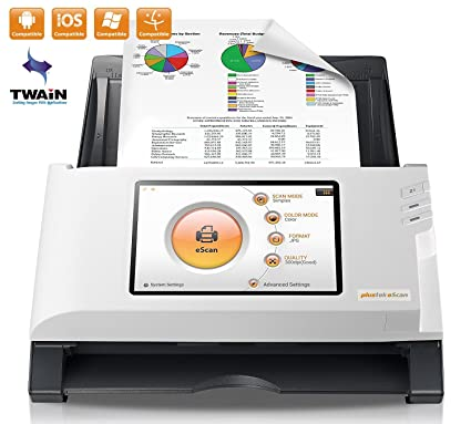 Plustek eScan A180, PC-Less Duplex Wireless Network Document Scanner, 7