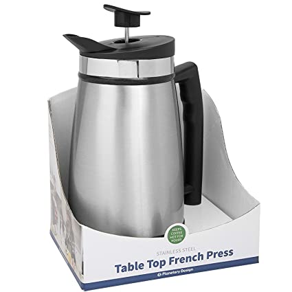 Planetary Design Table Top French Press 48oz Brushed Steel Amazon